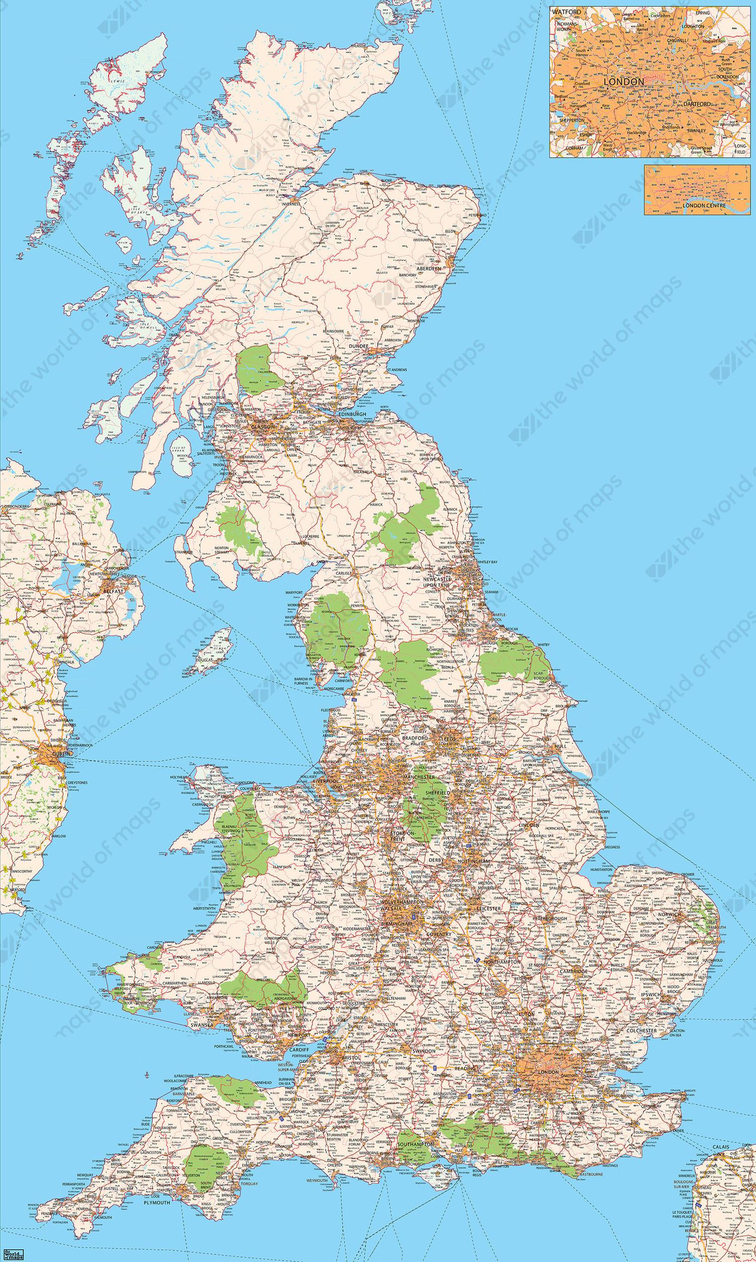 Digital Postal Code Map United Kingdom The World Of Mapscom - United kingdom clickable map