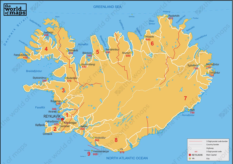Digital postcode map iceland 3 digit 84 the world of maps digital postcode map iceland 3 digit gumiabroncs Images