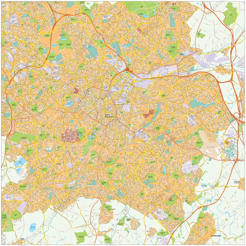 Digitale kaart Birmingham 470