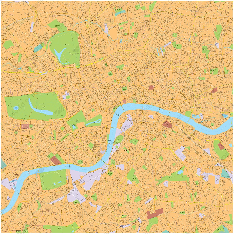 Digital map London