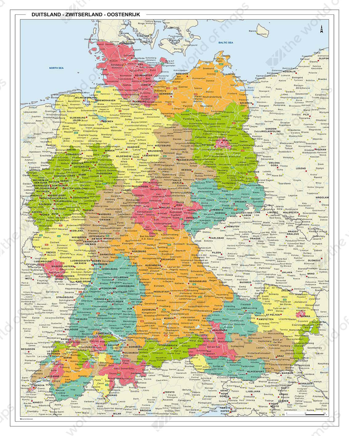Digital map germany austra switzerland 1328 the world of maps germany austra switzerland gumiabroncs Image collections
