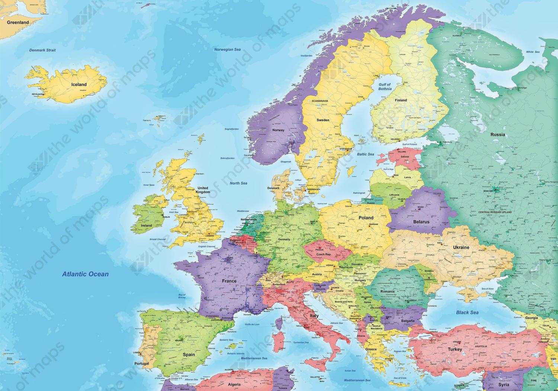 digital map europe