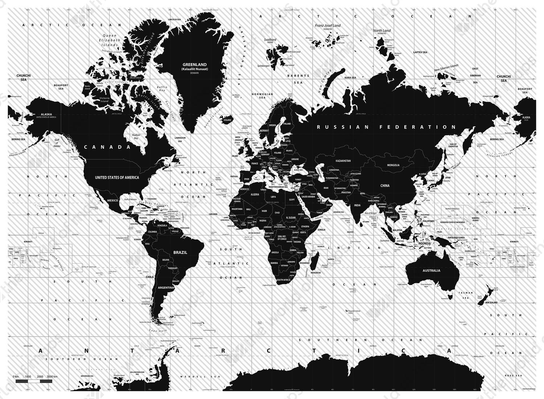 Digital world map zebra 1397 the world of maps digital world map zebra gumiabroncs Images
