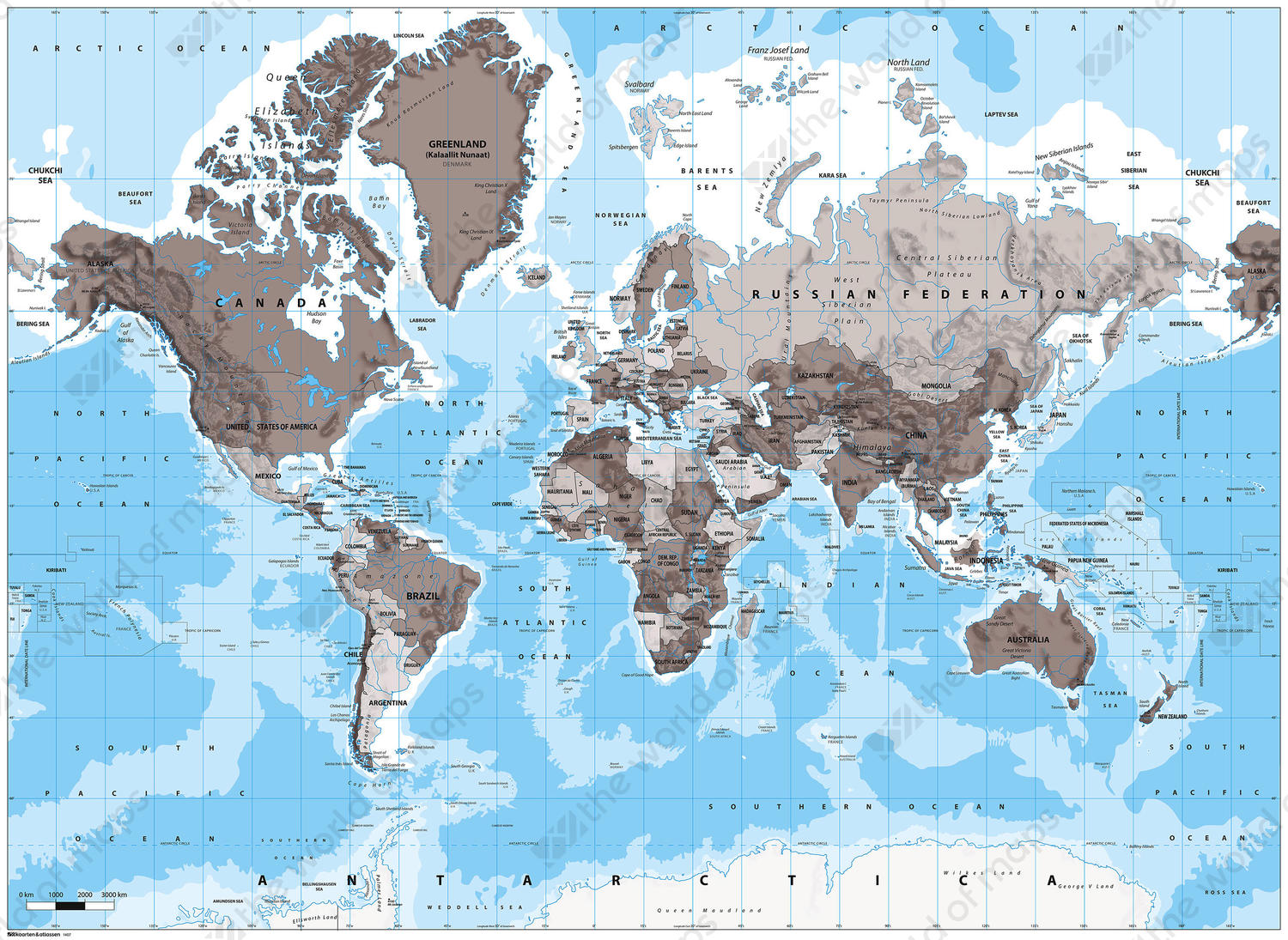 Vector world map black and blue 1407 the world of maps digital world map gumiabroncs Choice Image
