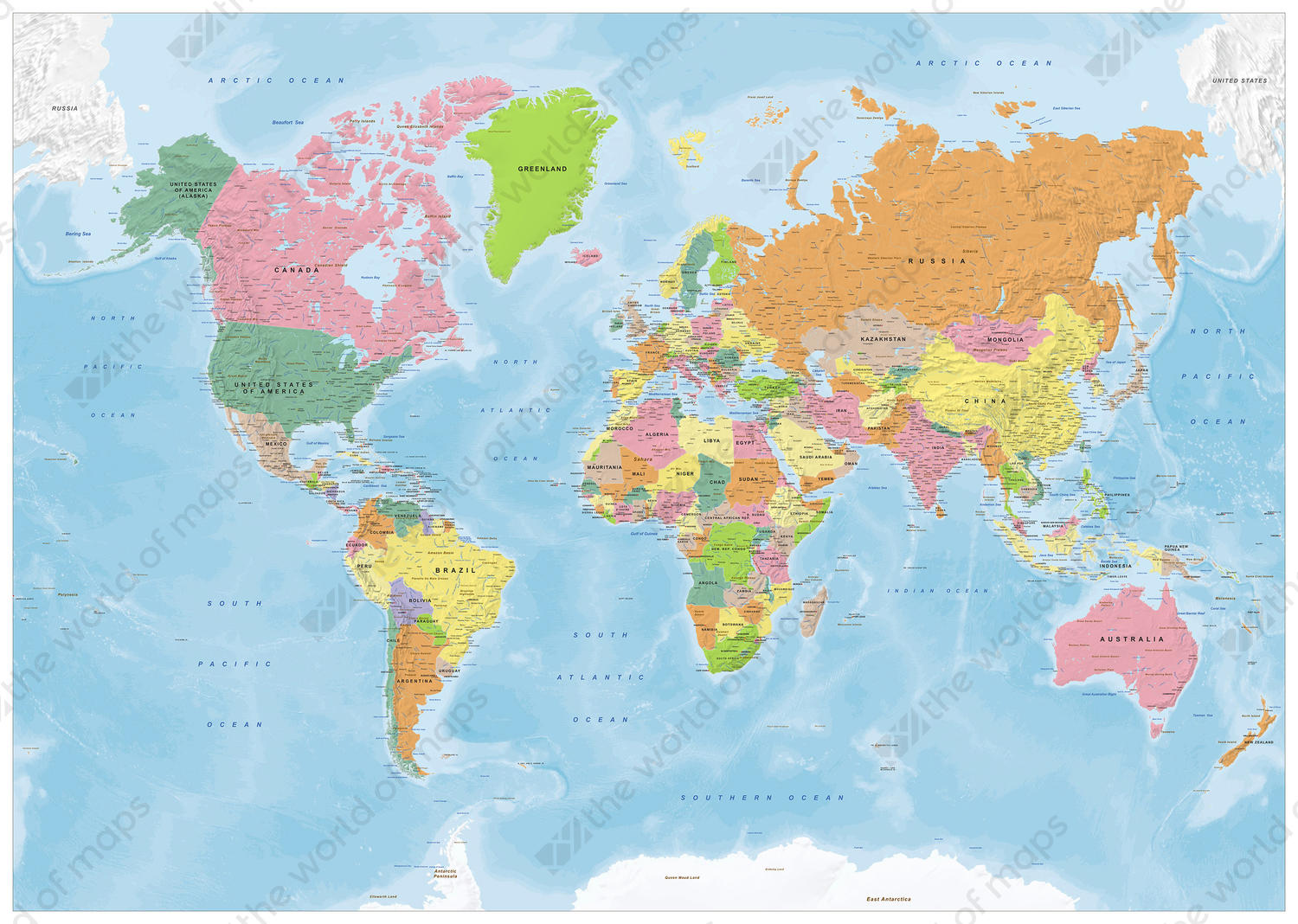 Vector World Map Political 1419 | The World of Maps.com