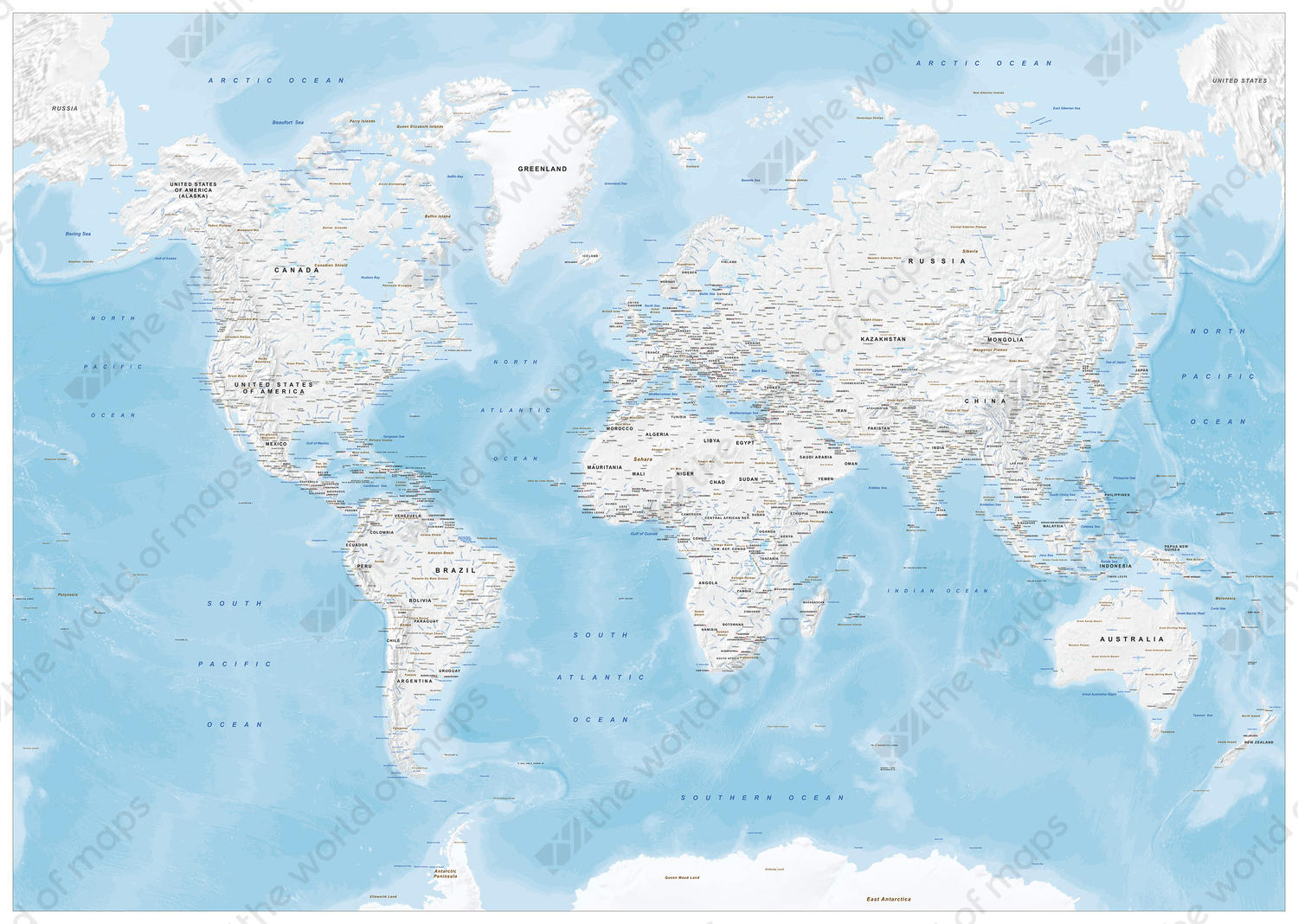Vector world map political 1418 the world of maps digital world map political without colors gumiabroncs Image collections