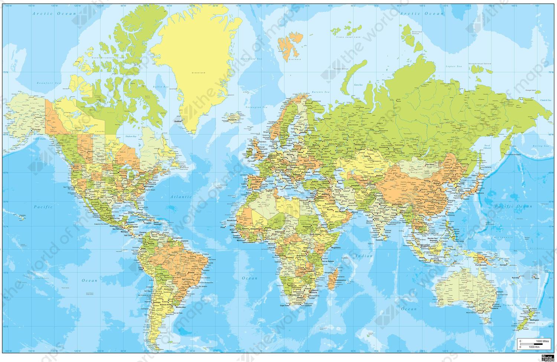 Vector English World Map 319 The World of Mapscom
