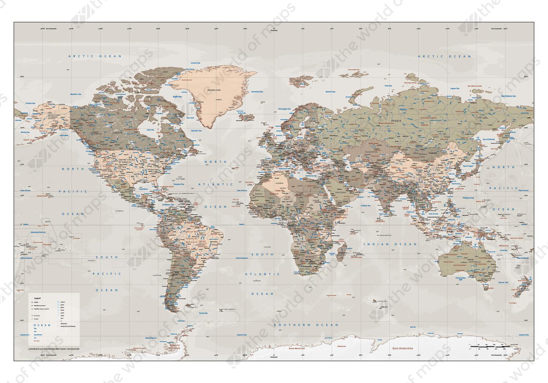 Vector World Map XXL Political