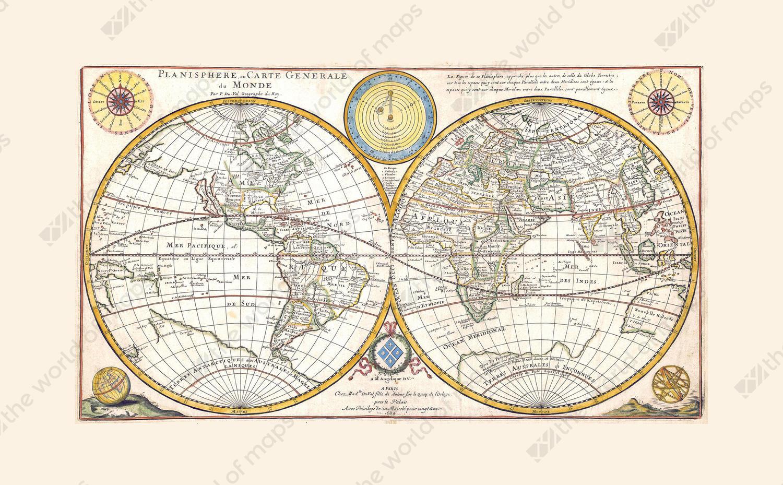 Digital world map year 1684 de abbeville the world of maps digital world map year 1684 de abbeville gumiabroncs Gallery