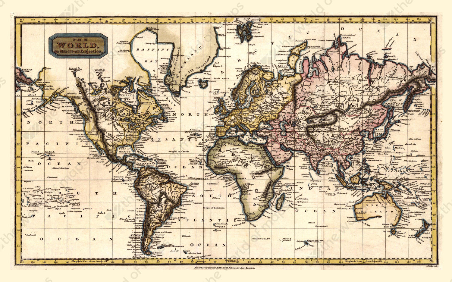 Digital world map year 1798 finley the world of maps digital world map year 1798 finley gumiabroncs Image collections