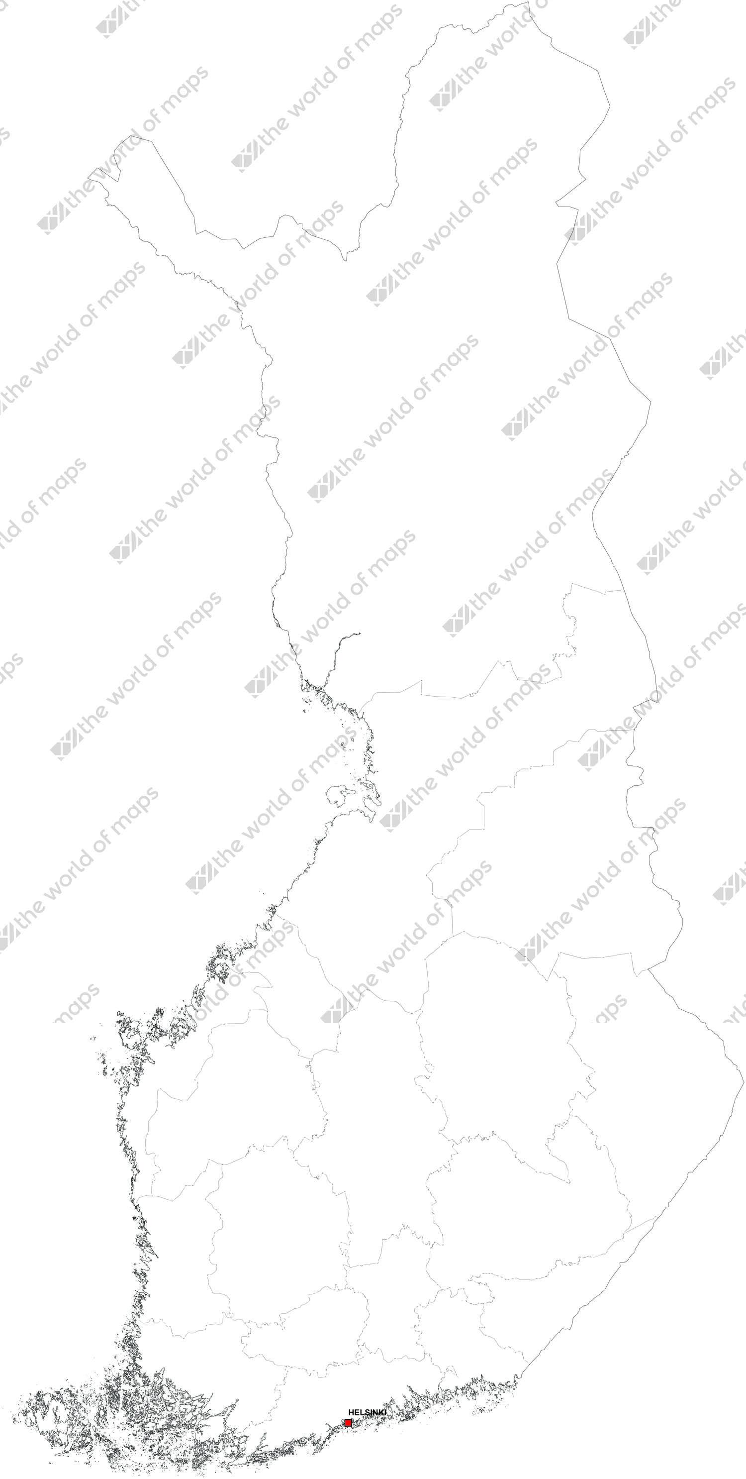 Digital map of Finland (free)