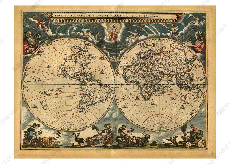 Digital world map year 1664 blaeu the world of maps digital world map year 1664 blaeu gumiabroncs Gallery