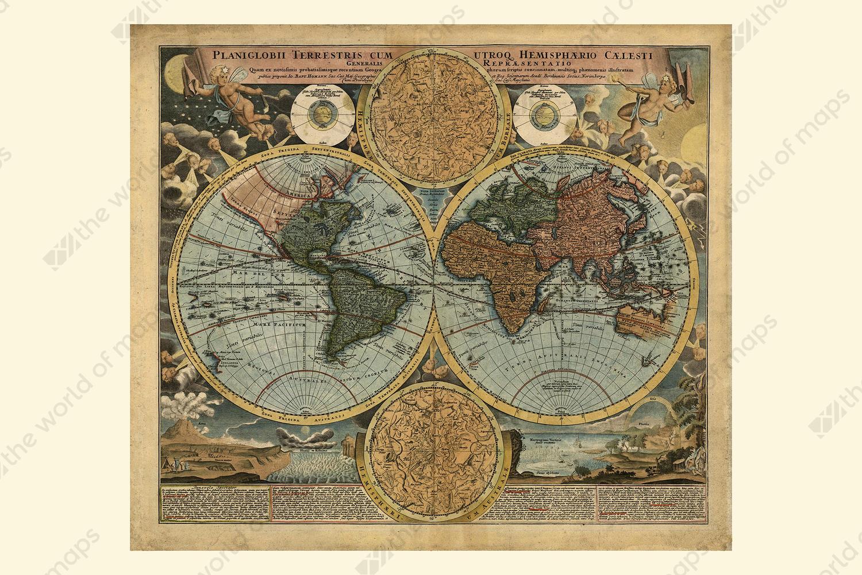 Digital world map year 1716 johann baptist homann the world of digital world map year 1716 johann baptist homann gumiabroncs Gallery