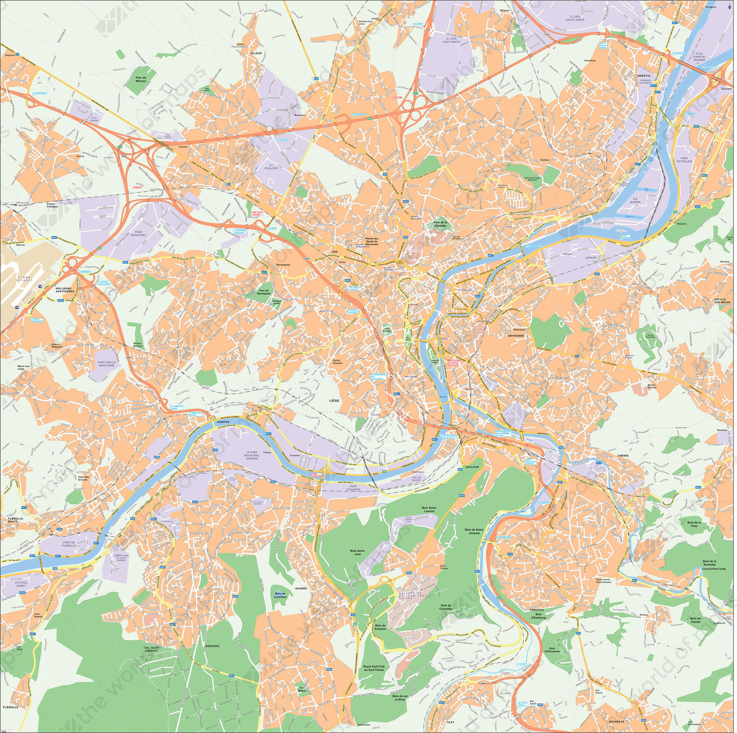 Digital map Luik