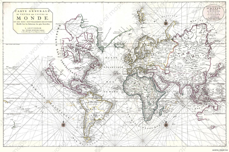 Digital world map year 1703 pierre mortir 1344 the world of maps digital world map year 1703 pierre mortir 1344 gumiabroncs Gallery