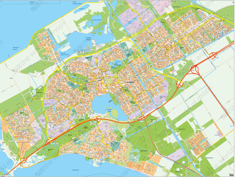 Digital map Almere