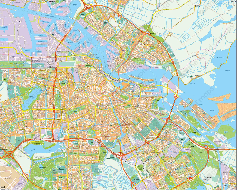 Digital City Map Amsterdam 391 The World of Mapscom