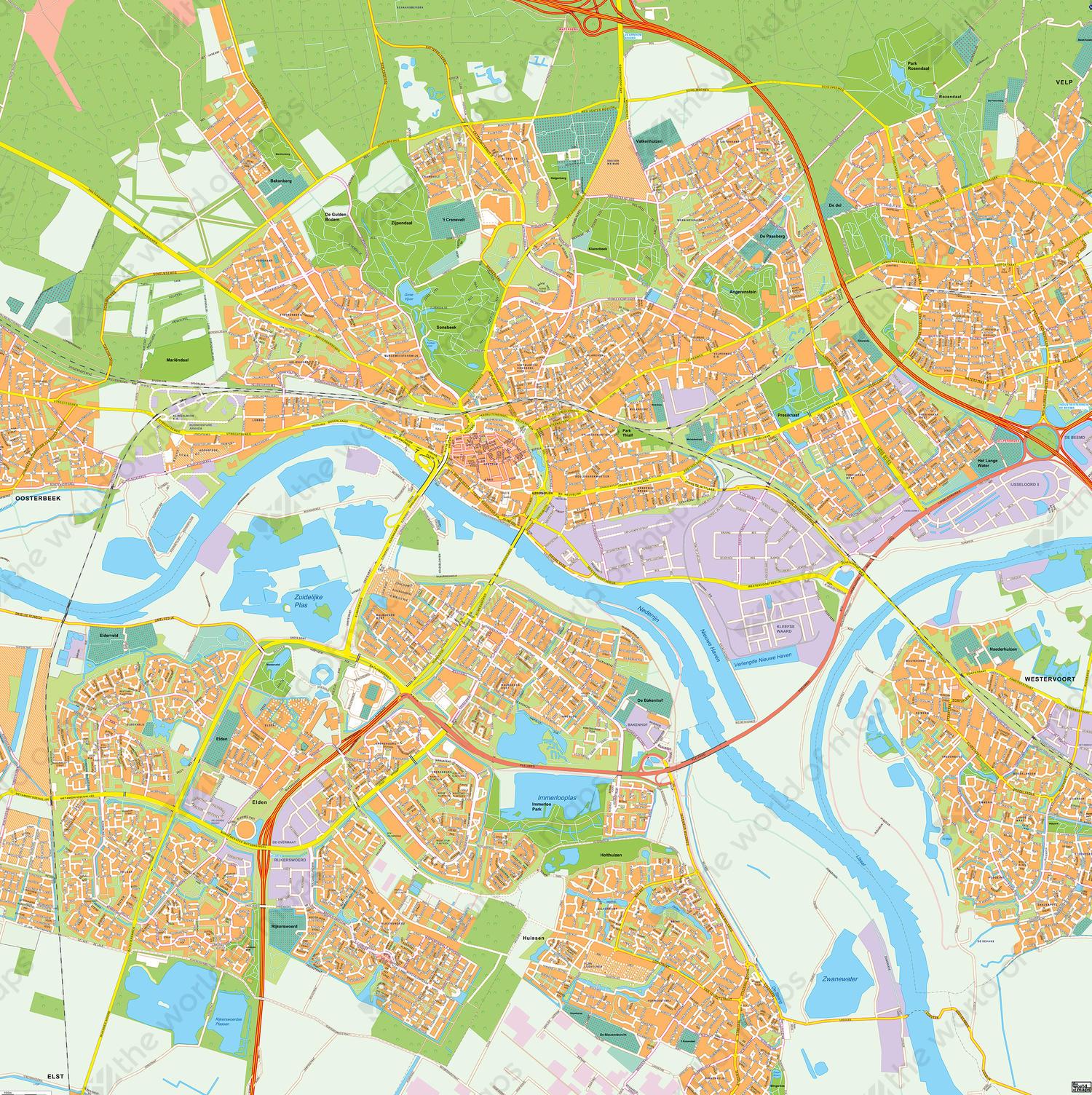 Digital map Arnhem