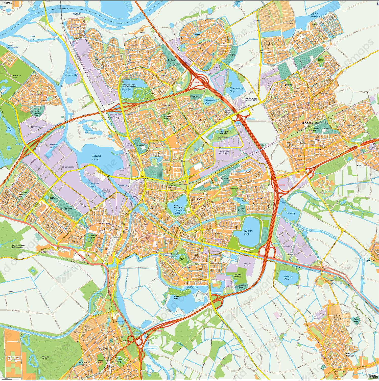 Digital map Den Bosch
