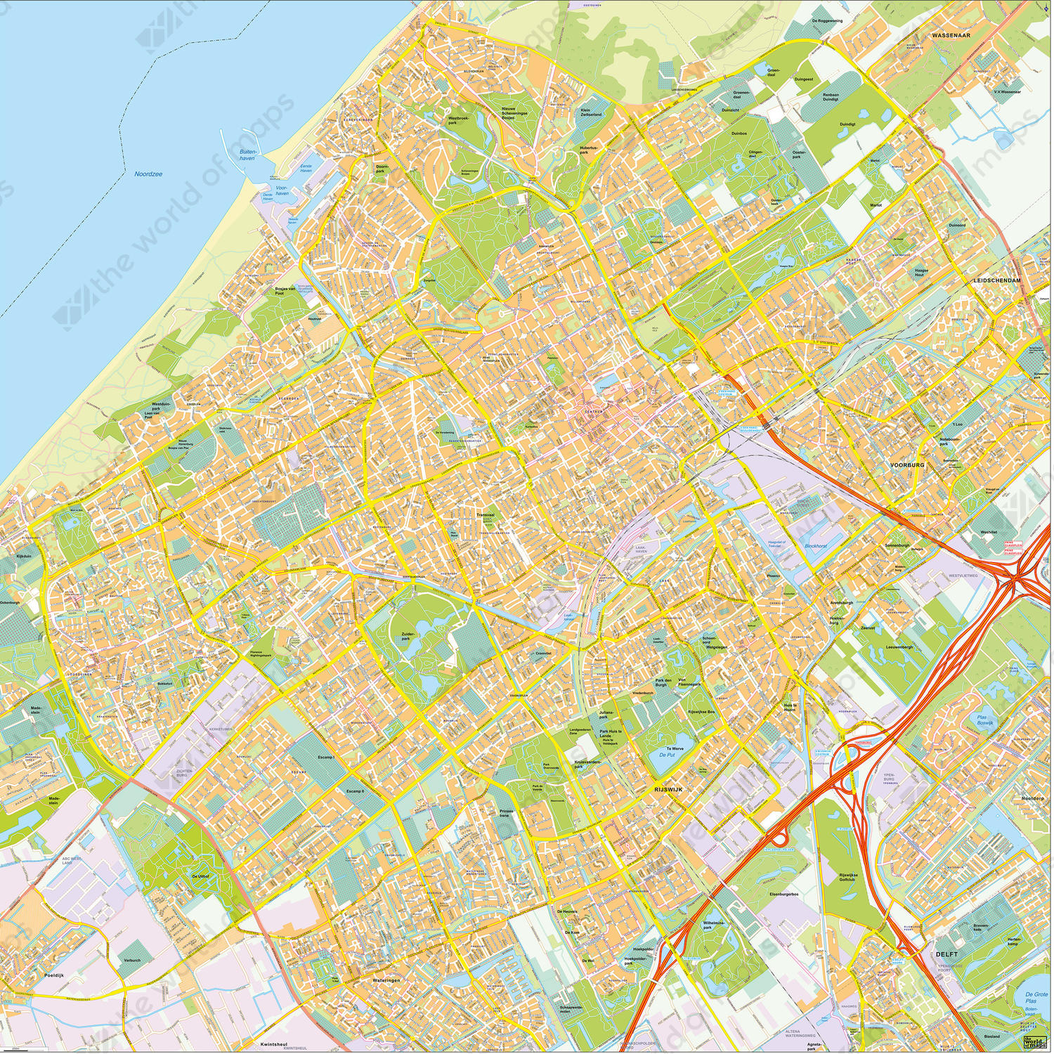 Digital City Map The Hague The World of Mapscom