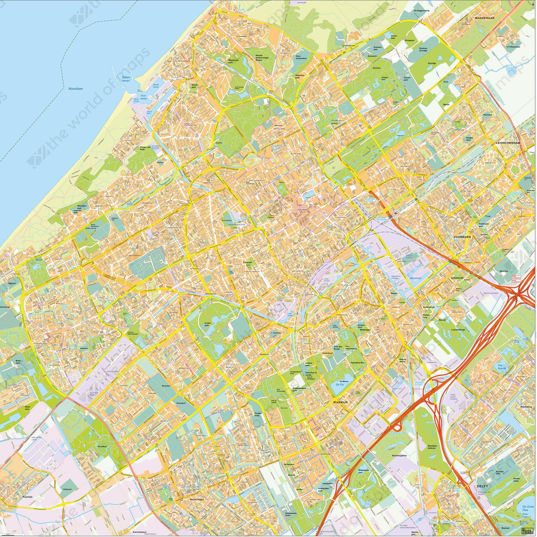 Digital map Den Haag