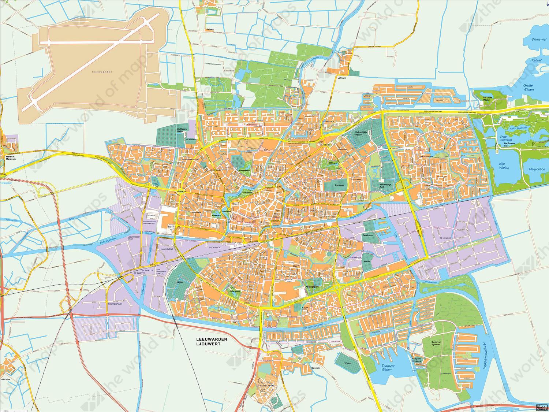 Digital City Map Leeuwarden 400 The World of Mapscom