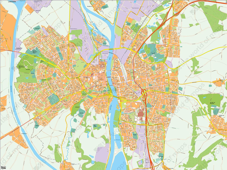 Digital map Maastricht