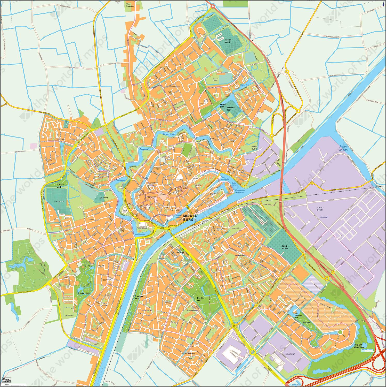 Digital map Middelburg