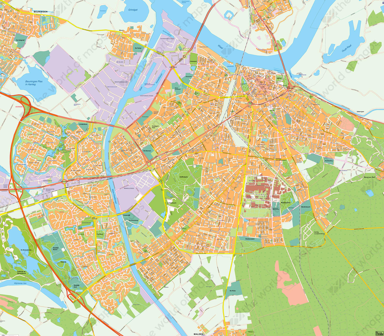 Digital map Nijmegen