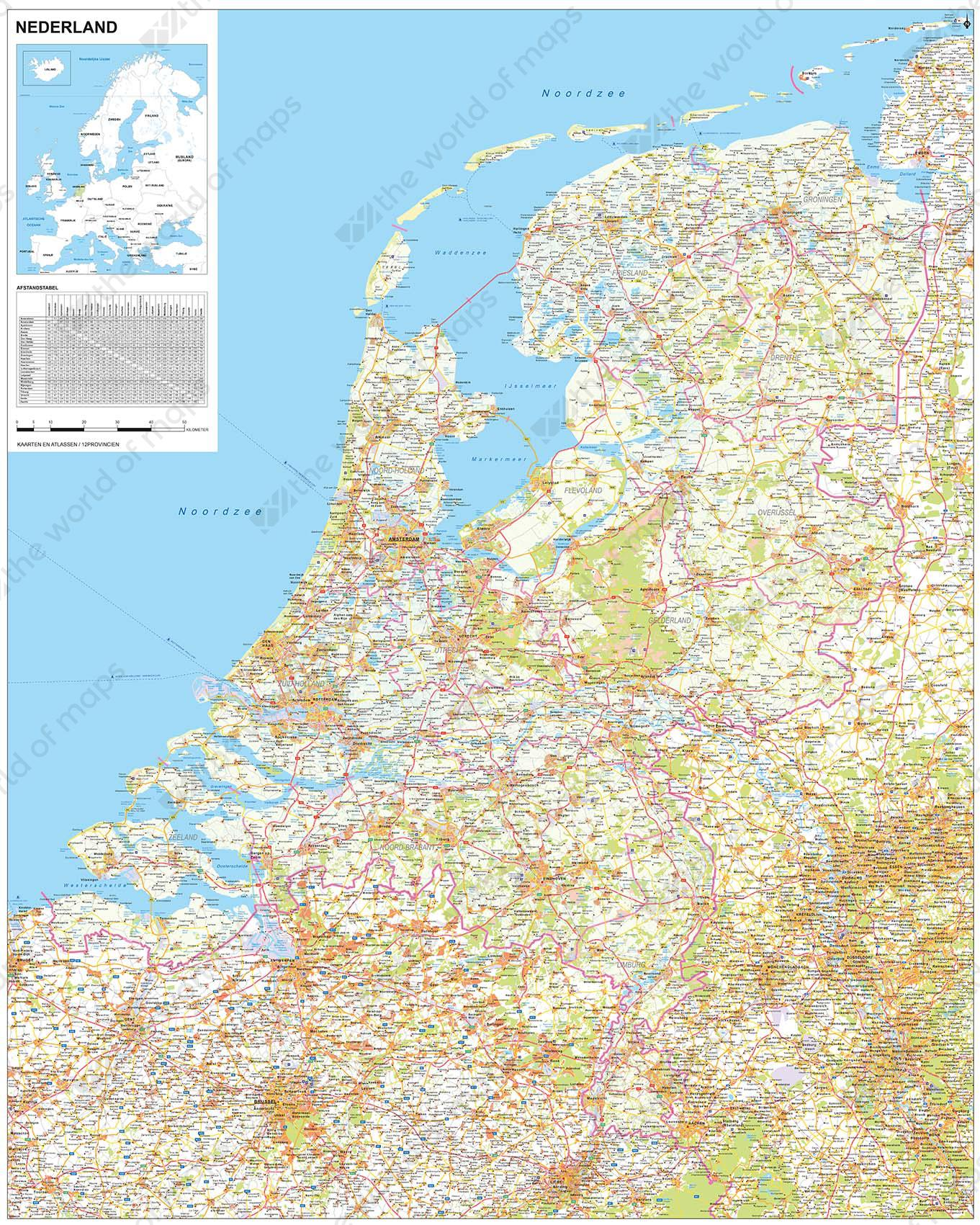 Digital Map Of The Netherlands 1378  The World of Mapscom