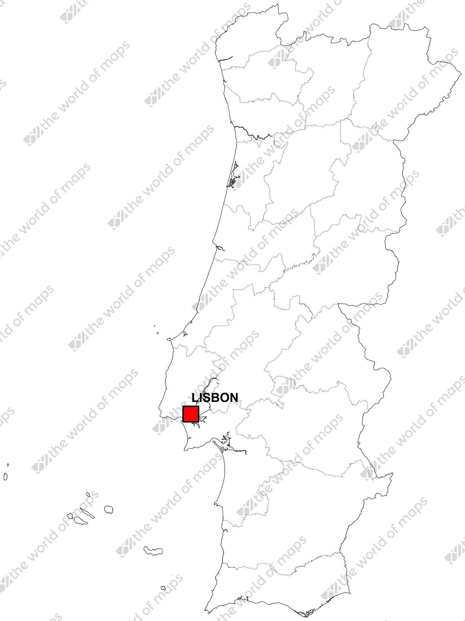 Digital map of Portugal (free)