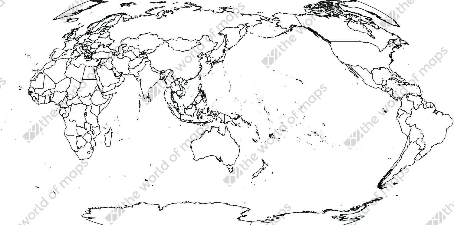 Digital world map in Robinson projection (free)