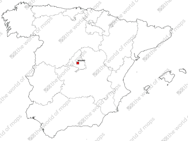 Digital map of Spain (free)