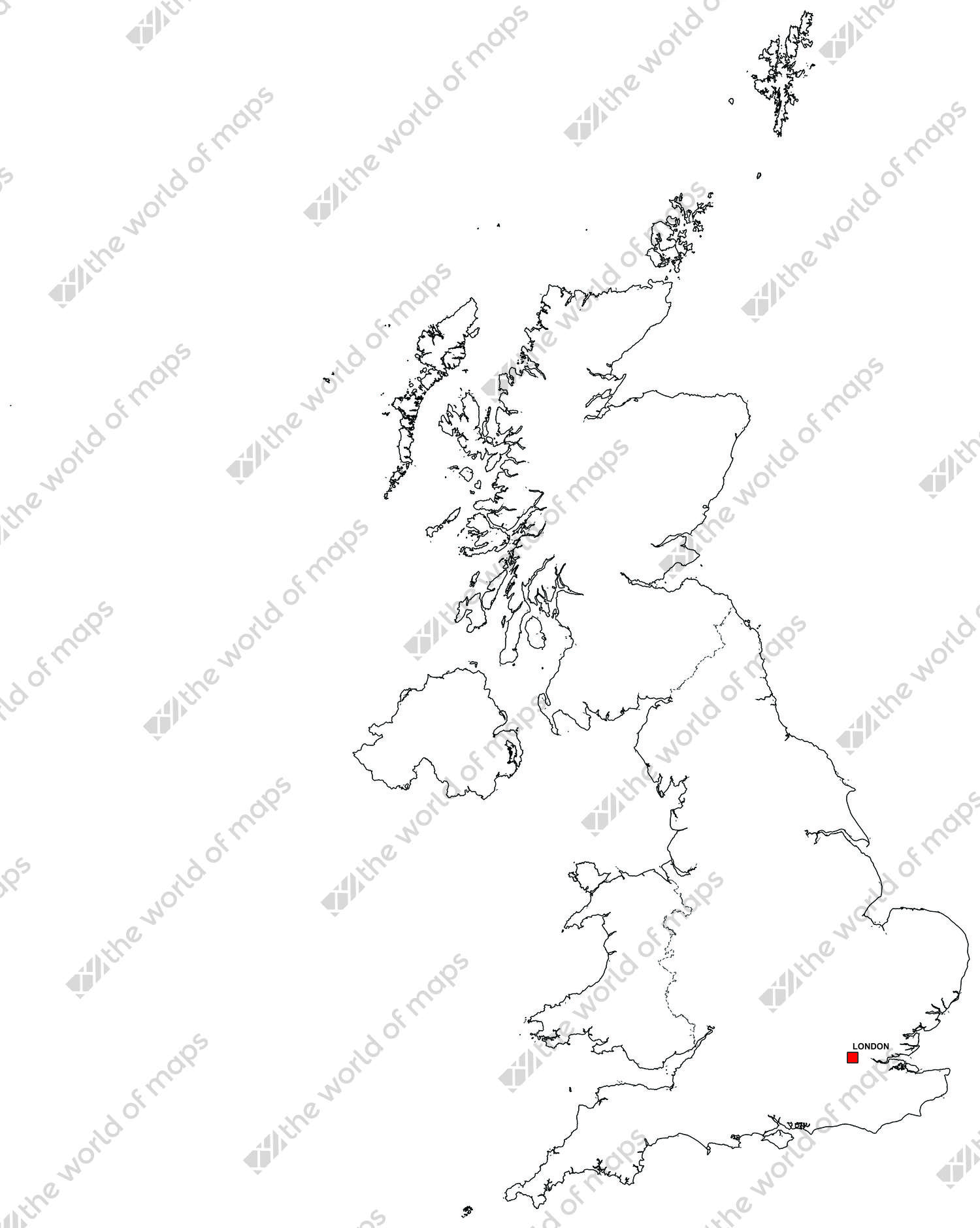 Digital map of the United Kingdom (free)