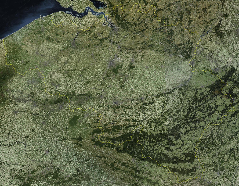 Digital Satellite Map Belgium The World Of Mapscom - Digital satellite map