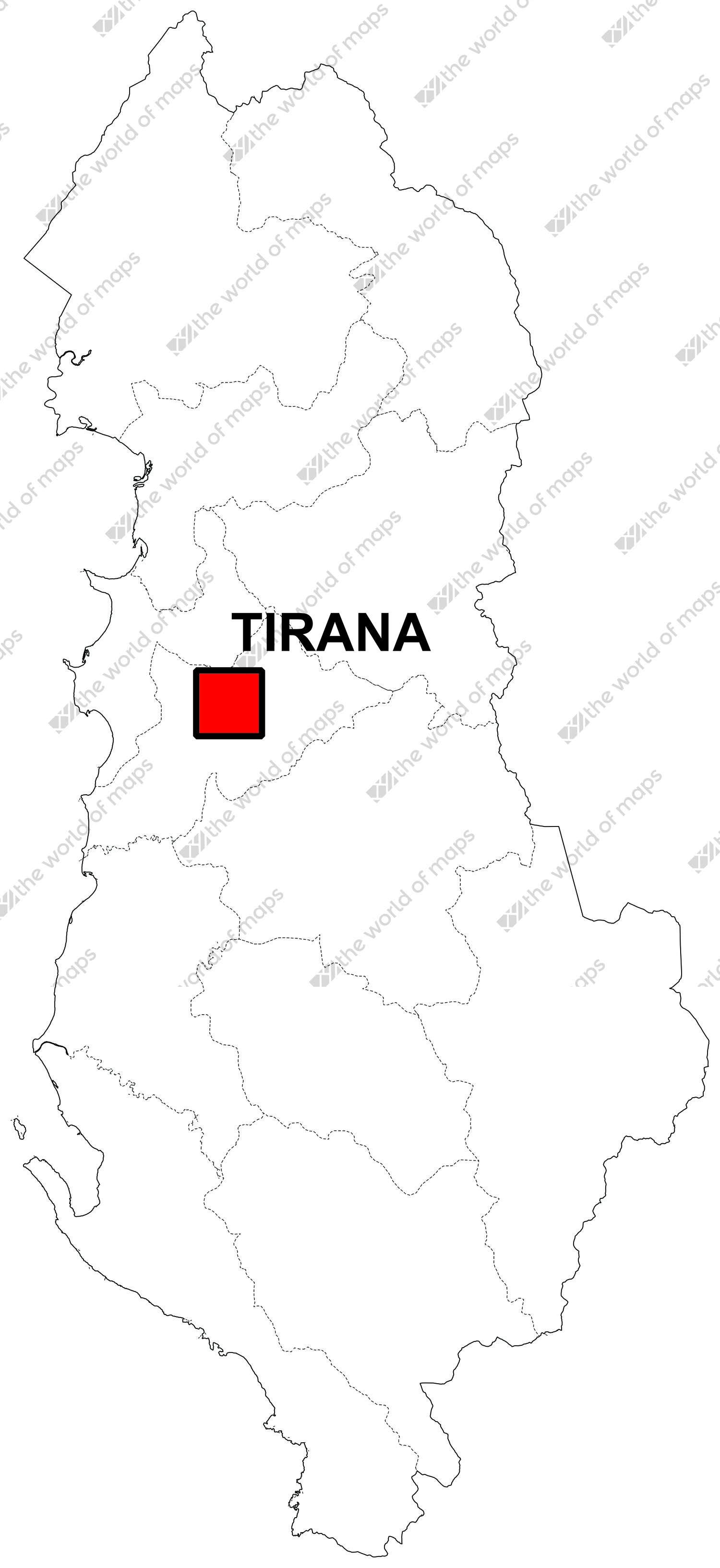 Free Digital Map Of Albania The World Of Maps Com