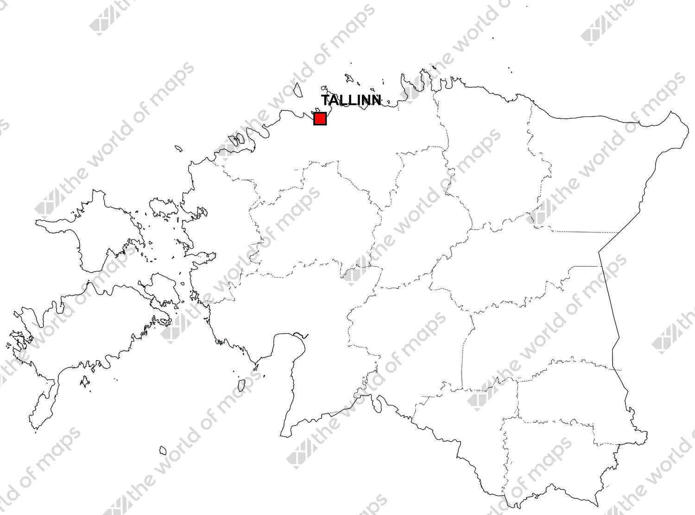 Digital map of estonia free the world of maps digital map of estonia free gumiabroncs Images