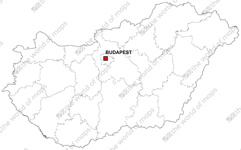 Digital map of Hungary free The World of Mapscom
