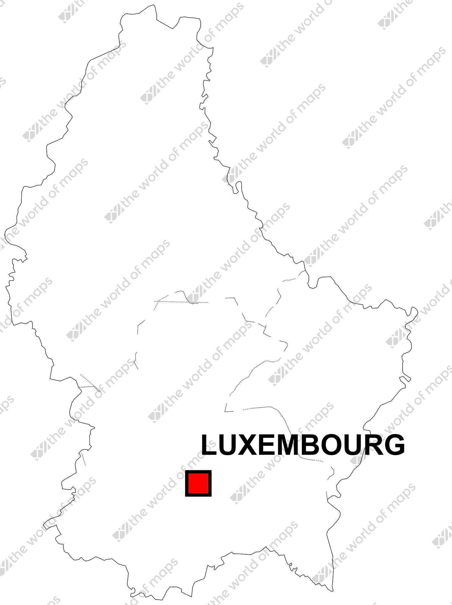 Digital map of Luxembourg (free) | The World of Maps.com