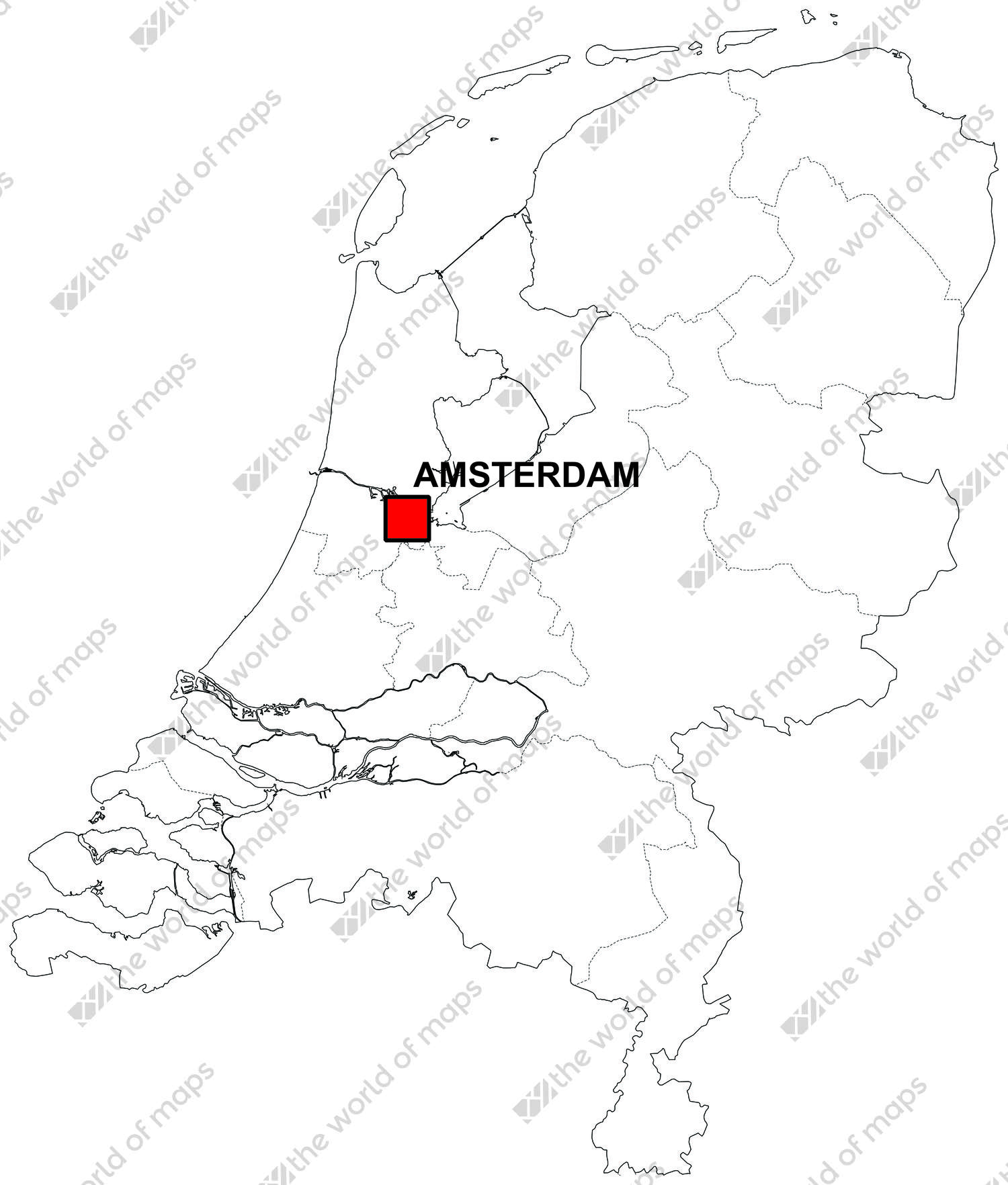 Image of: Free Digital Map Of The Netherlands The World Of Maps Com