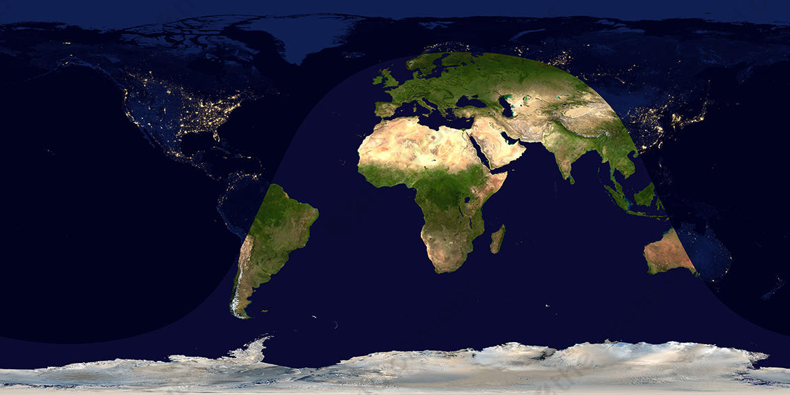 Digital Satellite Image Day And Night 848 The World Of Maps Com