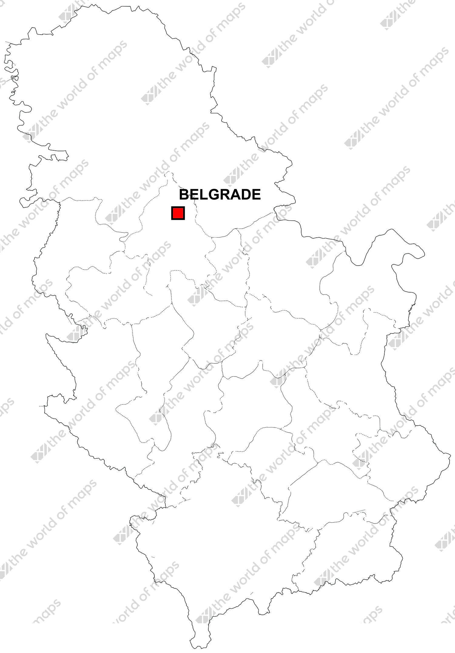 Digital map of Serbia (free)