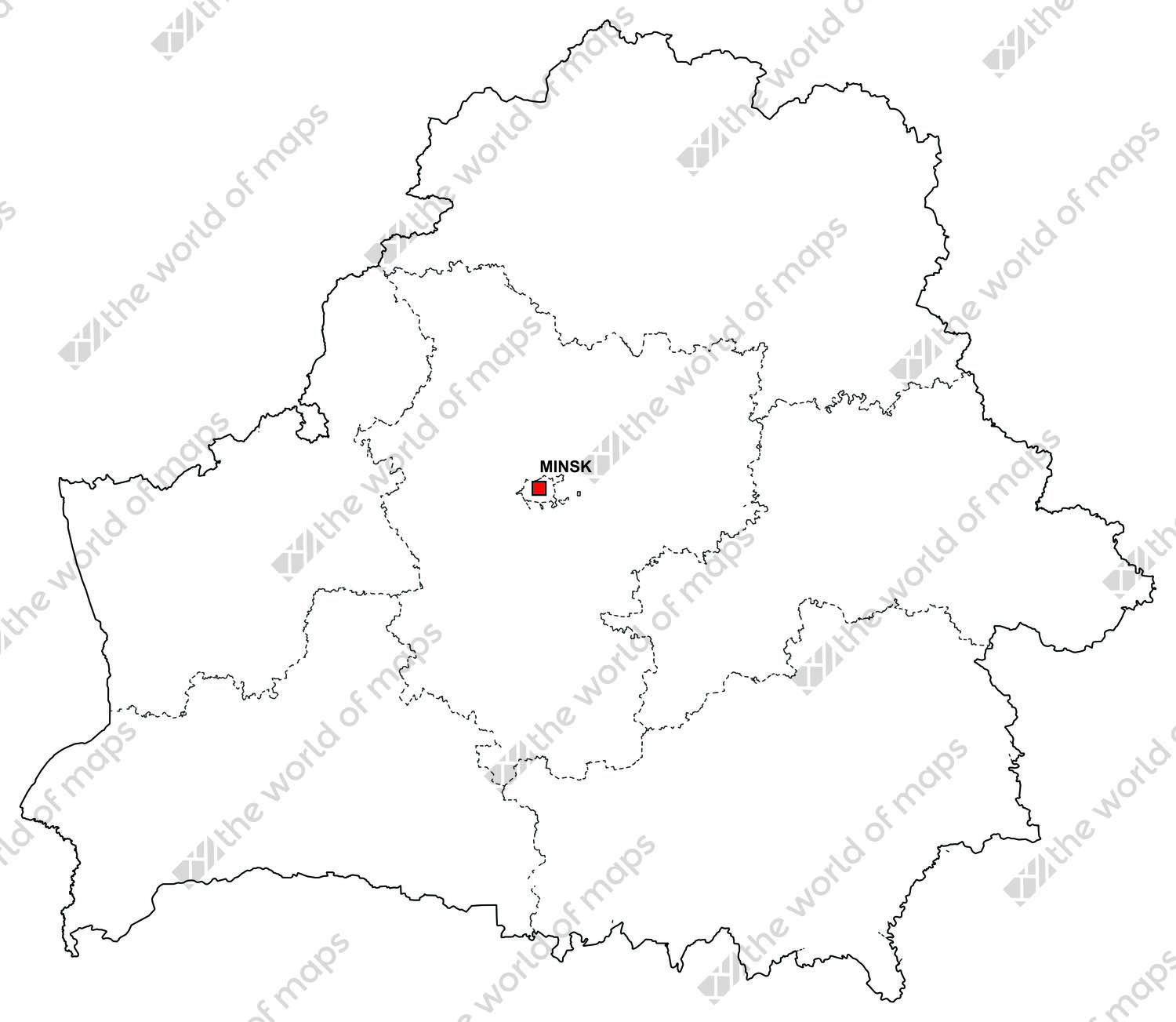 Picture of: Digital Map Of Belarus Free The World Of Maps Com