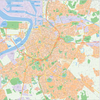 Digital map Antwerpen