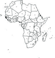 Digital map of Africa (free)