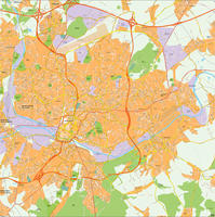 Digital map Charleroi