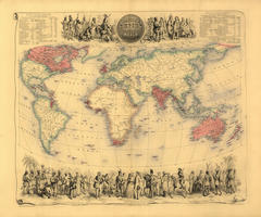 Digital World Map Year 1852 Bartholomew