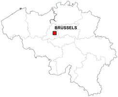Digital map of Belgium (free)