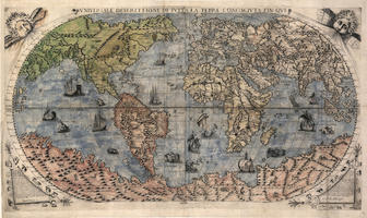 Digital World Map Year 1565 Bertelli 1339