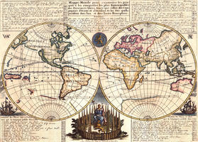 Digital World Map Year 1728 Chatelain 1341